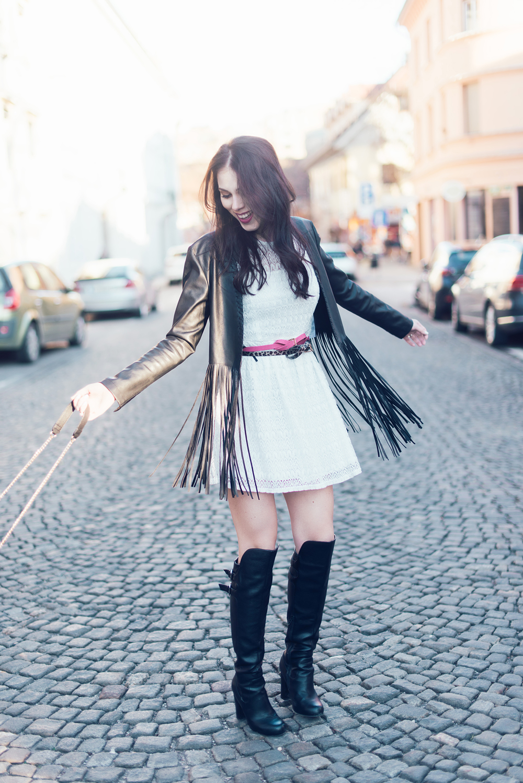 Eva Ahačevčič Ajda Sitar Resasta jakna Ženska jakna Boho Modna blogerka New Yorker 6