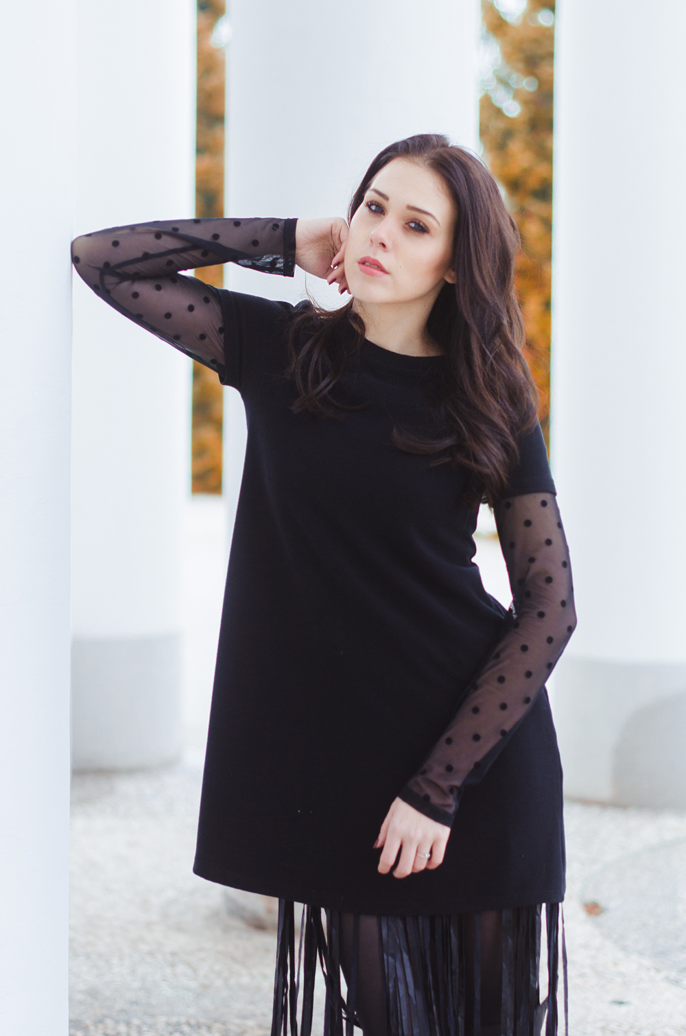 Eva Ahačevčič_Love, Eva_Terminal 3_ Resice_Fringes_OOTD_Black from head to toe 1