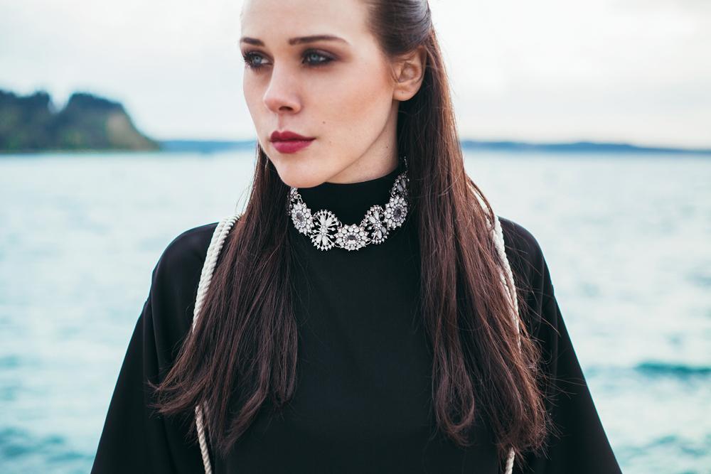 Eva Ahačevčič_Love, Eva_Black dress_Little black dress_Frachella_Backpack_Portorose_Details_FAshion blogger
