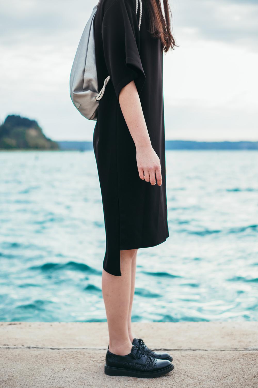 Eva Ahačevčič_Love, Eva_Black dress_Little black dress_Frachella_Backpack_Portorose_Details_FAshion blogger_Designer_Slovenia