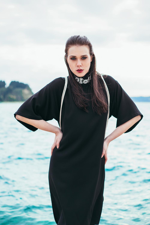 Eva Ahačevčič_Love, Eva_Black dress_Little black dress_Frachella_Backpack_Portorose_Seaside_Slovenia
