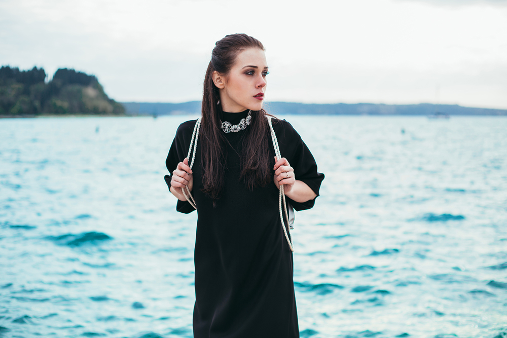Eva Ahačevčič_Love, Eva_Black dress_Little black dress_Frachella_Backpack_Portorose_Slovenia