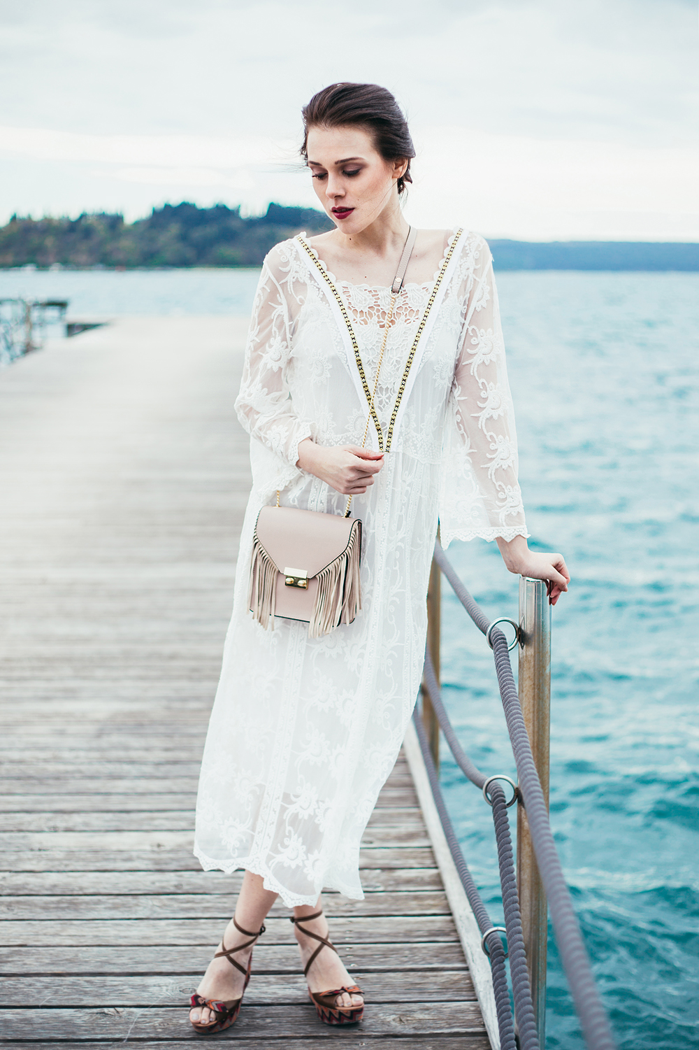 Eva Ahačevčič_Love, Eva_OOTD_FAshion blogger_Terminal 3_WHite dress_Boho_Portorož