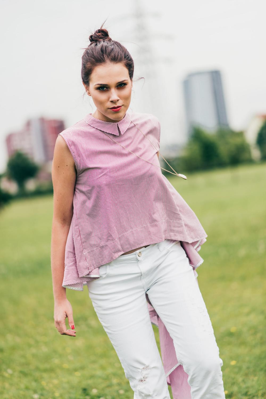 Eva Ahačevčič_Love, Eva_OOTD_Asymetric shirt_White jeans_Terminal3 6