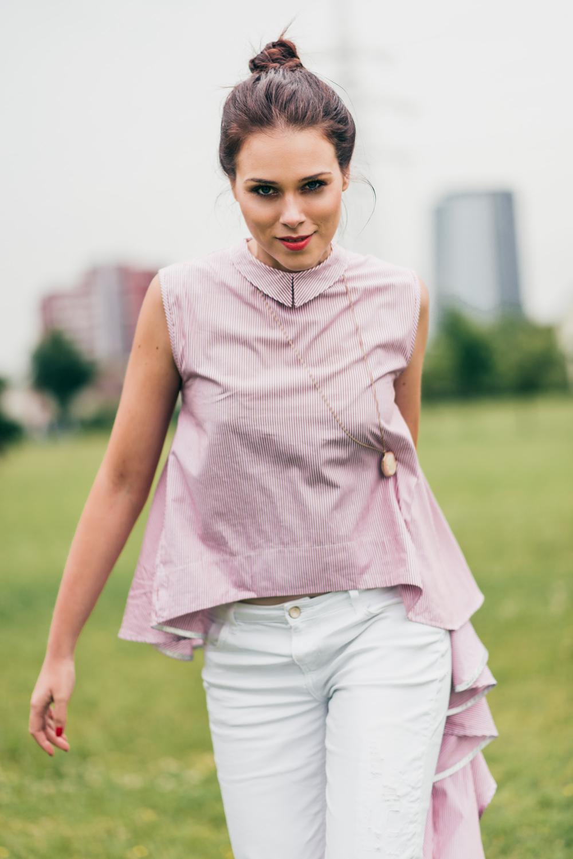 Eva Ahačevčič_Love, Eva_OOTD_Asymetric shirt_White jeans_Terminal3 8