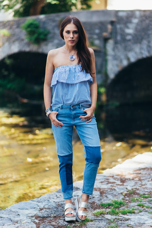 Eva Ahačevčič_Love, Eva_Jeans_Off shoulder top_H&M_OOTD_Zara_Shoes_Robbo_Hoverboard_Urbano kolo 1