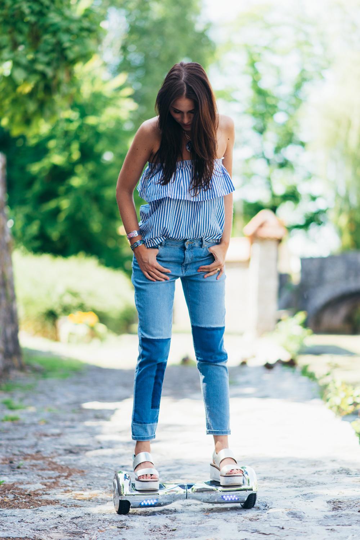 Eva Ahačevčič_Love, Eva_Jeans_Off shoulder top_H&M_OOTD_Zara_Shoes_Robbo_Hoverboard_Urbano kolo 11