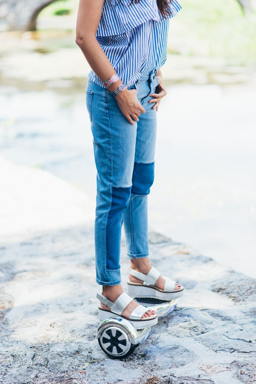 Eva Ahačevčič_Love, Eva_Jeans_Off shoulder top_H&M_OOTD_Zara_Shoes_Robbo_Hoverboard_Urbano kolo 13