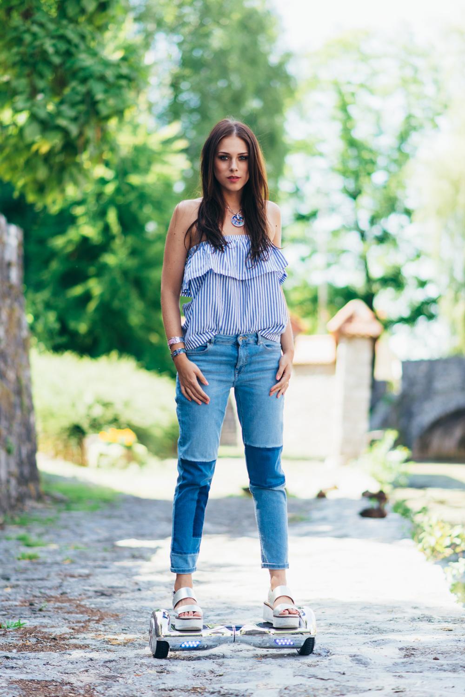 Eva Ahačevčič_Love, Eva_Jeans_Off shoulder top_H&M_OOTD_Zara_Shoes_Robbo_Hoverboard_Urbano kolo 9