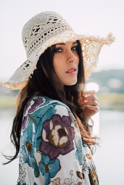 Eva Ahačevčič_Love, Eva_OOTD_Podpeško jezero_uROPE sandals_Straw hat_Bikini H&M_Dress Zara 2