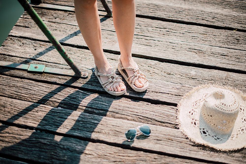 Eva Ahačevčič_Love, Eva_OOTD_Podpeško jezero_uROPE sandals_Straw hat_Bikini H&M_Dress Zara 6