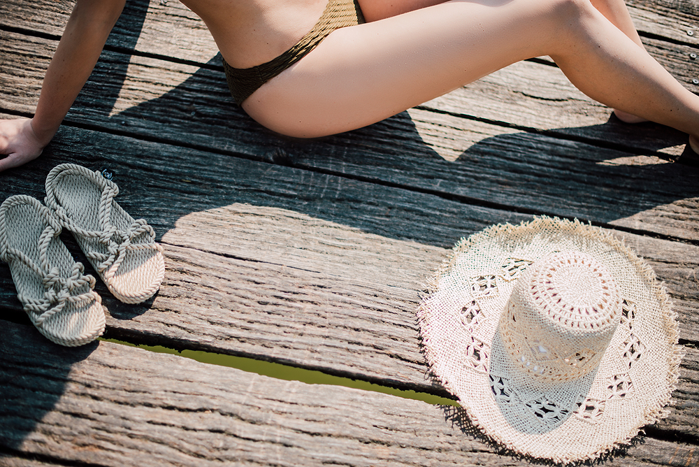 Eva Ahačevčič_Love, Eva_OOTD_Podpeško jezero_uROPE sandals_Straw hat_Bikini H&M_Dress Zara 9