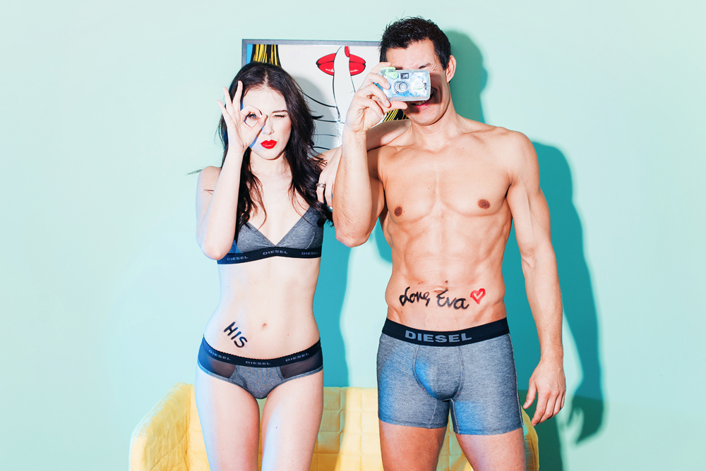 Eva Ahačevčič Taiji Tokuhisa Diesel underwear Dieselmatch Love, Eva 7