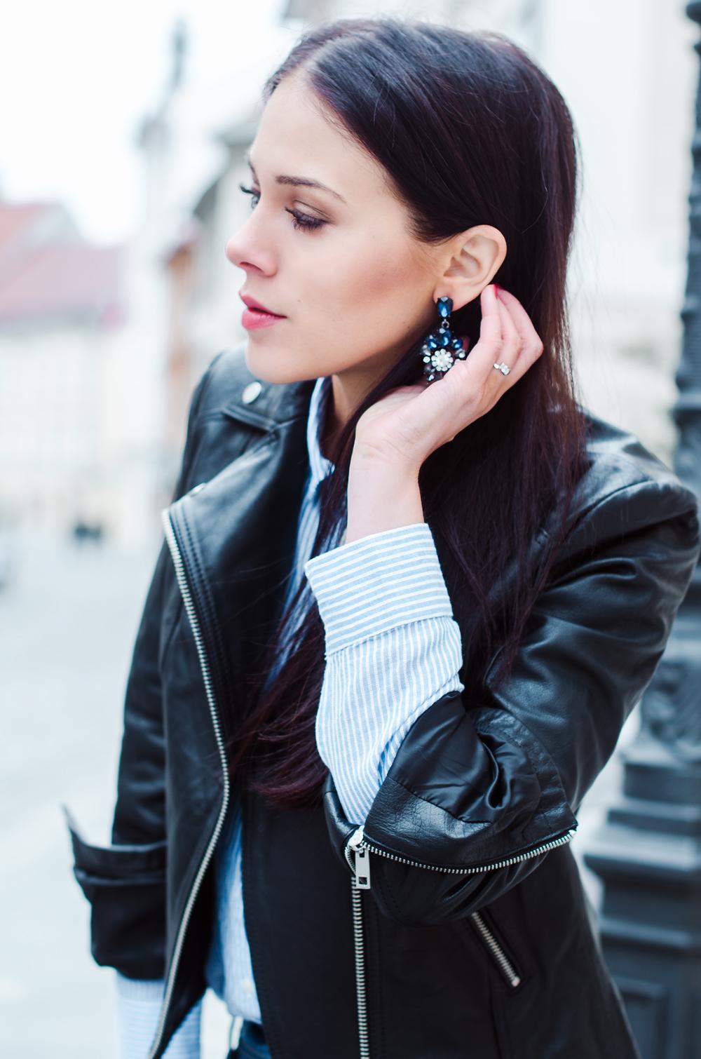 Eva Ahačevčič_Love, Eva_Diesel_leather jacket_Modni dodatki Bling bling_Crop pants 2
