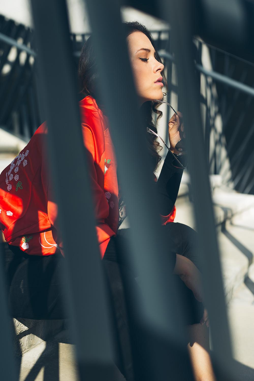 Eva Ahačevčič_Love, Eva_OOTD_Style of the day_Bomber jaket_Boyfriend jeans_Terminal 3_Le Specs Sunglasses_Bag_Diesel 1